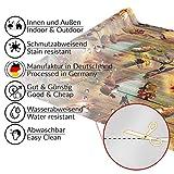 Wachstuchtischdecke abwaschbar Garten Tischdecke Wachstuch Rund Oval Eckig Indoor Outdoor Jagt Wild Jäger Motiv Holz 100x140cm - 7