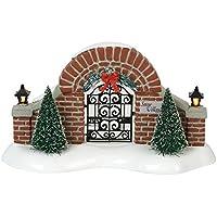 Department56 3.23 Inch Original Snow Village Accessories Entry Gate Lit Figurine