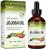 Jojoba Oil 4 OZ – Certified Organic 100% Pure – Best Oil Moisturizer for Radiant Looking Skin, Silky Smooth Hair and Strong Nails – Ideal for Sensitive Skin