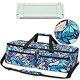 LLYWCM Lightweight Carrying Bag Compatible with Cricut Explore Air, Cricut Maker and Cricut Explore Air 2, Foldable Travel Tote Case for Die-Cut Machines Accessories and Supplies (D-Blue)