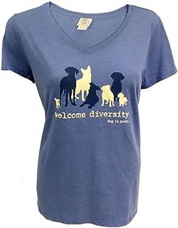 """تيشيرت بكم قصير مطبوع عليه عبارة """"Dog is Good"""" - هدية رائعة لمحبي الكلاب، مصنوع من مواد عالية الجودة، مناسب للنساء"""