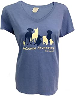 Dog is Good Welcome Diversity Women's Short Sleeve T-Shirt - Great Gift for Dog Lovers