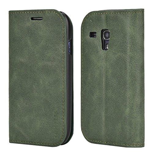 Mulbess Cover per Samsung Galaxy S3 Mini, Custodia Pelle con Funzione Stand per Samsung Galaxy S3 Mini [Slim Case], Verde