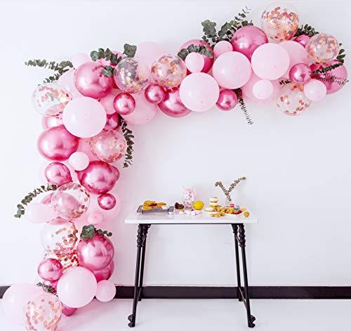 80pc Mauve Pink Balloon Arch Kit | Balloon Arch Kit Pink | Pink Balloons | Pink Balloon Garland | Pink Garland |Pink and Rose Gold Balloon Arch |Birthday Balloons For Girls |Baloon Arch |Balloons Pink