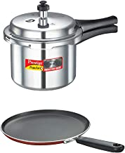 Prestige Pack of Pressure Cooker 3 Litre & Omni Tawa 250 mm, Silver, Standard