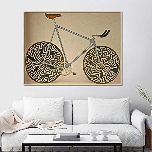YB Poster beroemd merk Cinelli Bike afbeelding abstracte kunst klassieke canvas schilderijen wandschilderijen voor woonkamer Cuadros oningelijst-40x55 cm