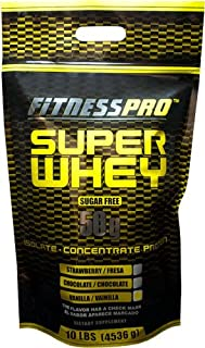 Fitness Pro Lab Inc. Super Whey, Vanilla, 10-Pound