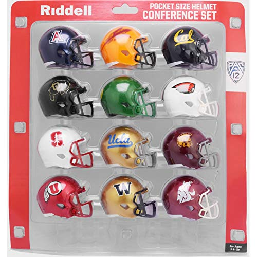 Riddell NCAA Pocket Pro Helmets, PAC 12 Conference Set, (2020) New, Assorted