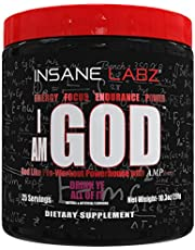 Insane Labz I am God Pre Workout, High Stim Pre Workout Powder Loaded with Creatine and DMAE Bitartrate Fueled by AMPiberry, Energy Focus Endurance Muscle Growth,25 Srvgs,Thou Shalt Not Covet
