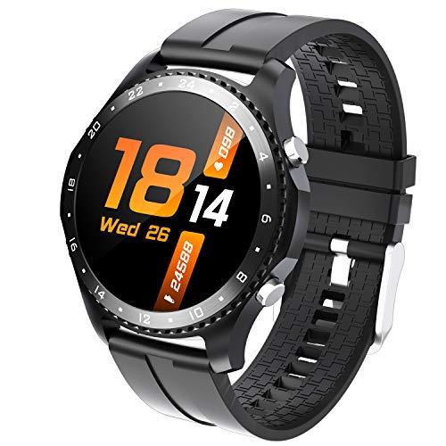 Phipuds Smartwatch Donna Orologio Fitness Uomo |Chiamata Bluetooth| Contapassi Cardiofrequenzimetro da Polso ECG Orologio Sportivo Conta Calorie Activity Tracker per Smart Watch Android iOS (Nero)