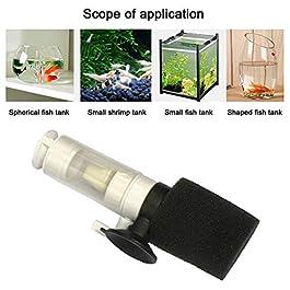 ETbotu fish tank accessories,Aquarium accessory – Silent Mini Water Pneumatic Filter for Fish Bowl Aquarium