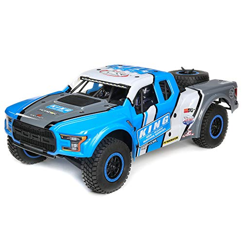 Losi 1/10 Ford Raptor Baja Rey 4WD RC Desert Truck BL 2.4GHz RTR with DX2E 2.4GHz Radio System (LiPo Battery and Charger Sold Separately): King of Shocks, LOS03020T1