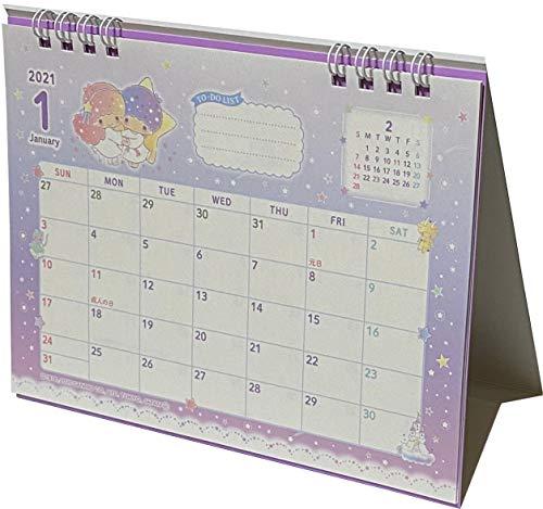 サンリオ リトルツインスター デスクリング 日本カレンダー 2021年 12ヶ月 日本