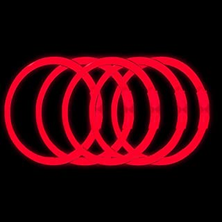 Lumistick 8 Inch Glow Sticks | 100 Pack Bulk Party Favors Bracelets | Light Sticks for Neon Party Glow Necklaces | Glow in The Dark Party Supplies for Kids or Adults (Red, 100 Glow Sticks)