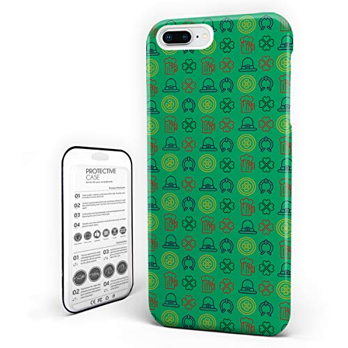iPhone 6 Case/iPhone 6s Case St. Patrick's Day Design Hard Plastic PC Ultra Thin Protective Phone Case Cover Compatible iPhone 6/6s (4.7 inch) Celtic Irish Decor Shamrocks Illustration