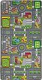 Duoplay 100x190 A4 Wende-Spielteppich, City oder Farm -