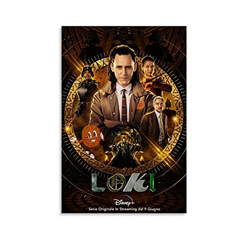 ERQN Póster Loki Cool Room Decor Manga Canvas Art Poster and Wall Art Picture Office Modern Family Bedroom Decor Posters 20 x 30 cm