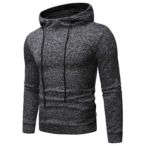 Men's Hoodie Long-Sleeve Thick Warm Pullover with Pocket Drawstring Regular Hoodie Men's Hoodie Casual Slim Pullover Sporty Leisure Sweatshirt Cycling top S