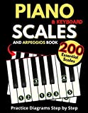 Piano & Keyboard Scales and Arpeggios Book, Practice Diagrams Step by Step: Fundamentals of Piano Practices, All the Major, Minor (Pentatonic, Blues and Modal Scales) Simple Music Theory