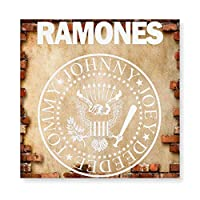 Ramones ラモーンズ 木製 額縁 フォトフレーム 壁掛け 木製 横縦兼用 絵を含む 40×40cm