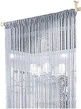 ave split Decorative Door String Curtain Wall Panel Fringe Window Room Divider Blind Divider Tassel Screen Home 100cm200cm (Silver18)