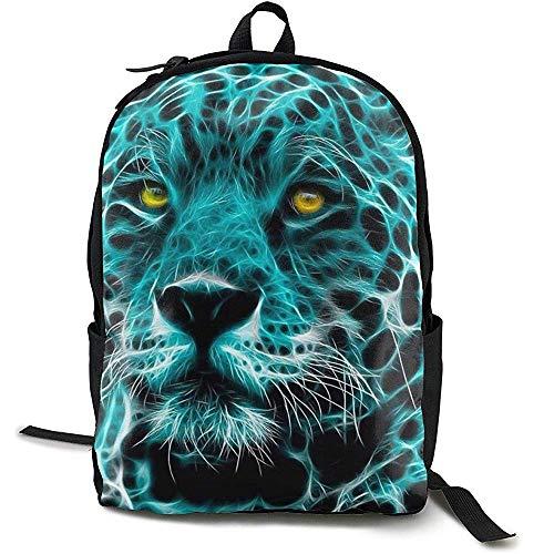 Kinderrugzakken, reisrugzak, grote luiertas - cool turquoise cheetah luipaard rugzak schoolrugzak voor vrouwen \U0026 mannen