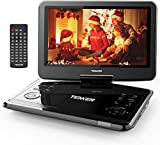 "TENKER 14.4 "" Portable DVD Player with 12.1' Swivel Screen, Rechargeable Battery with SD Card Slot and USB Port,1.8M Car Charger and Power Adaptor"