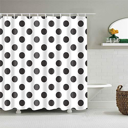 XCBN Decoración del hogar Rayas geométricas Cortinas de Ducha de baño de Onda Cortinas de baño de Tela Impermeable para baño con Ganchos A25 180x180cm