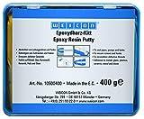 Weicon 10500400 Resina Epoxi, 400g, Masilla de reparación Universal amasable, en Paquete Completo, verde