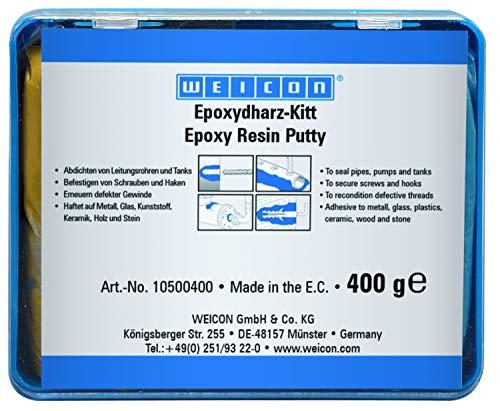 WEICON Resina epossidica pastosa 100 g composto per riparazioni universale impastabile in un pacchetto completo