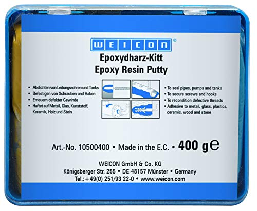 WEICON Epoxydharz-Kitt 400g knetbare Universal-Reparaturmasse im Komplettpaket