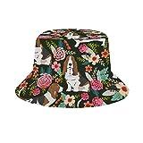 Yuanmeiju Cubo de Sombrero para el Sol Style Men Women Foldable Sombrero de Playa de Pescador Sun Protection Cow