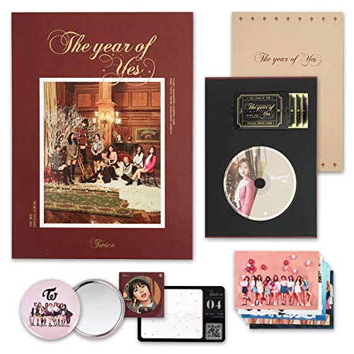 TWICE 3rd Special Album - THE YEAR OF YES [ B Ver. ] CD + Photobook + QR Code Card + Sticker + Photocard + FREE GIFT / K-pop Sealed