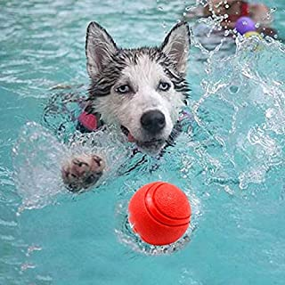 DORLIONA Dog Toy Floating Solid Balls Bouncing Ball Pet Dog Chew Toy Training Supplies Can Float in Water Interactive Toys...