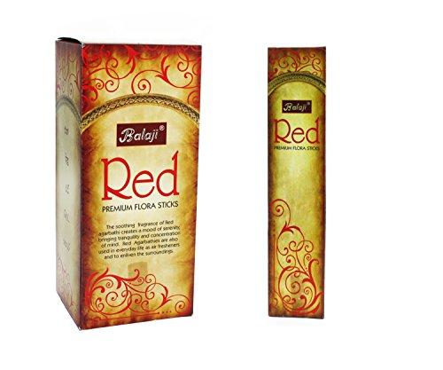 Balaji Red Premium Flora - Varillas de Incienso (12 Unidades x 12 Varillas)