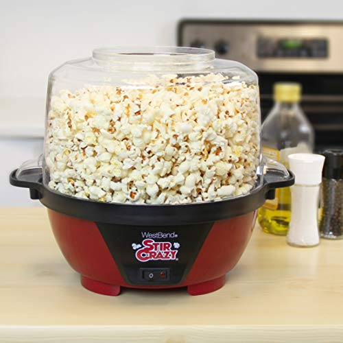 West Bend 82505 Stir Crazy Electric Hot Oil Popcorn Popper Machine...