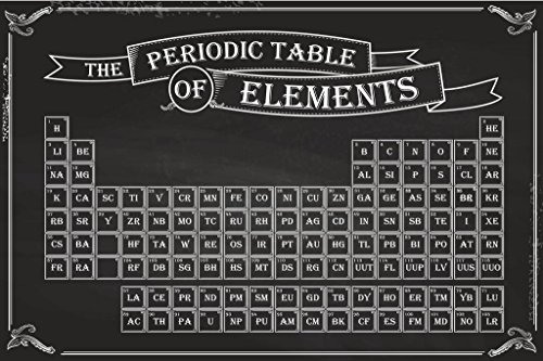 Chalkboard Periodic Table of Elements Educational Chart Cool Huge Large Giant Poster Art 54x36