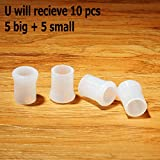 White Pipe Mouth Pieces Custom STEM Lip Protector Pipe Mouthpiece Stem Rubber Bits 10 pcs…