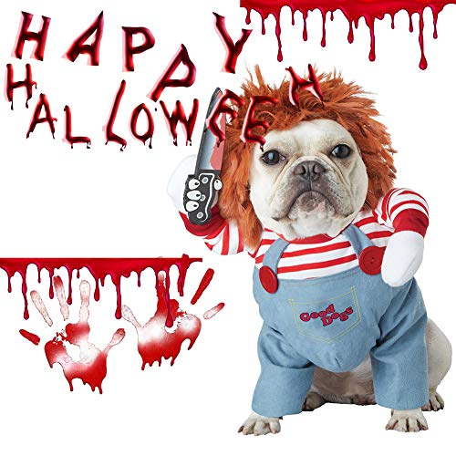 Hotumn Dog Awful Costume Pet Halloween Clothes Cat Cosplay Party Suit...