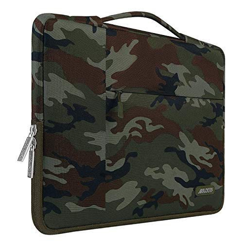 MOSISO Laptop Briefcase Compatible with 13-13.3 Inch Laptop, Notebook, MacBook Air/Pro, Polyester Multifunctional Sleeve Handbag Carrying Case Bag, Army Green Camouflage