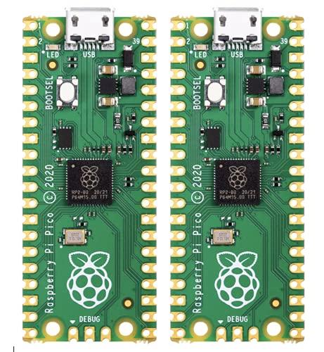 Raspberry Pi Pico RP2040 Mikrocontroller, 2 Stück