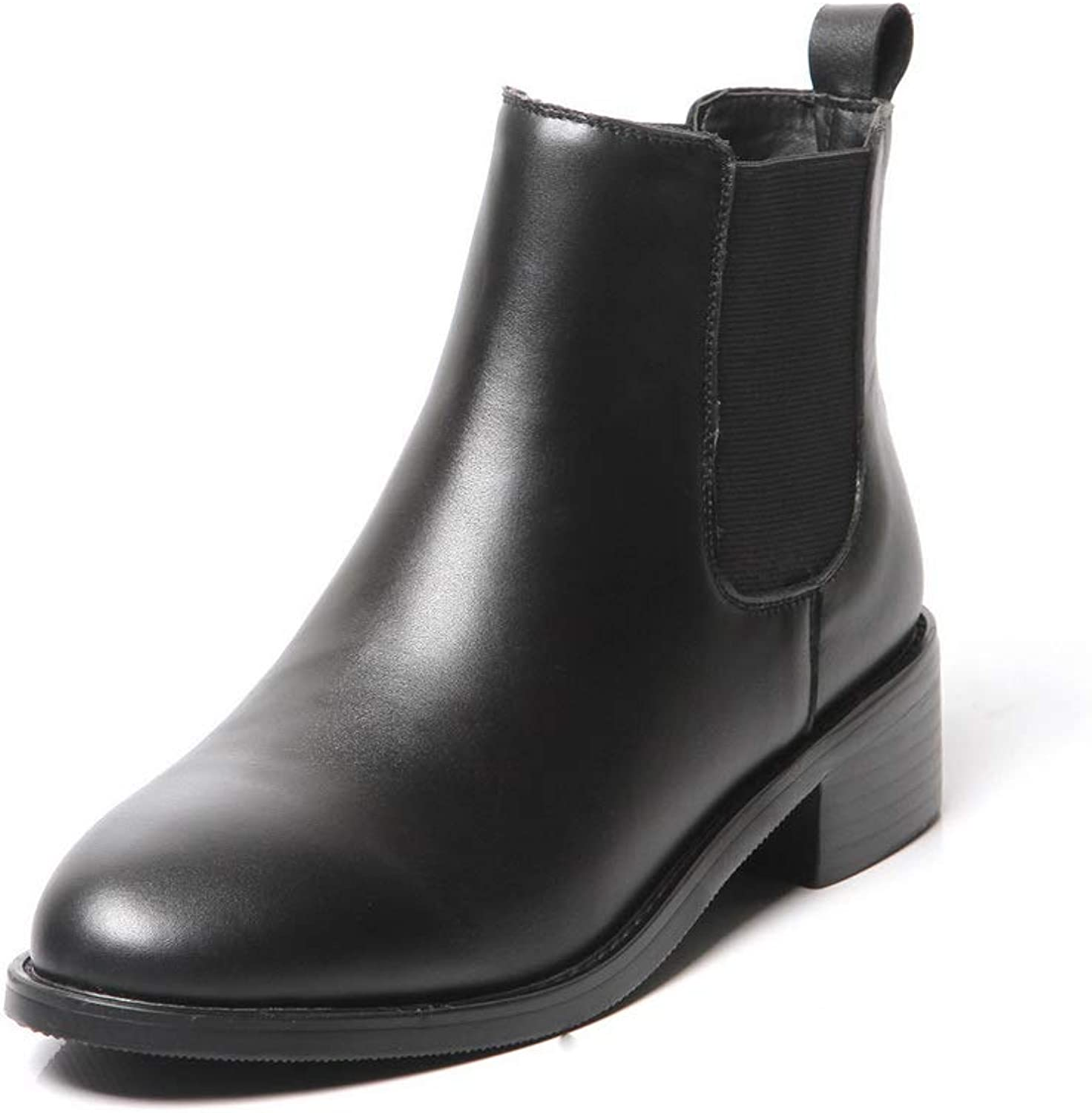 AdeeSu Womens Solid Fabric Smooth Leather Urethane Boots SXE04858