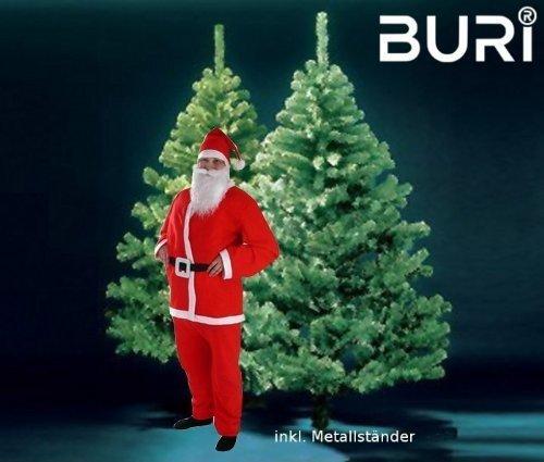 Buri® Weihnachtsbaum 180cm inklusive Weihnachtsmannkostüm Tannenbaum Nikolaus