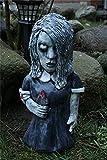 Horrorfilm Gartenzwerge, Albtraum Horror Gnom, Killer Gartenzwerg, gruselige untote Halloween-Skulptur Kampf Gnom Statue für Outdoor Garden Patio (Karen Cooper)
