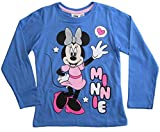 Camiseta de manga larga para niña, diseño de Minnie Mouse azul 9 años