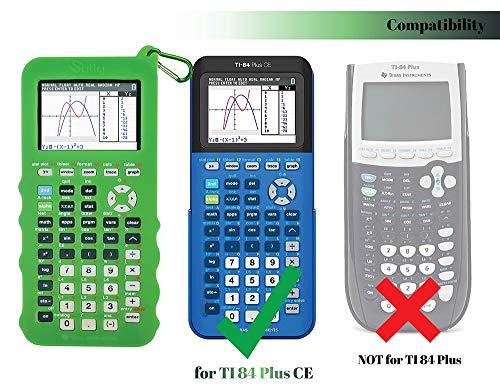 Silicone Case for Ti 84 Plus CE Calculator (Green) - Cover for Texas Instruments Ti-84 Graphing Calculator - Silicon Skin for Ti84 Plus - Protective & Anti-Scretch Cases - Ti 84 Accessories by Sully Photo #7
