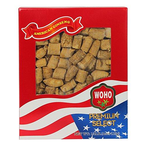 WOHO American Ginseng #120.4 Premium Select Prong Extra Large 4 oz Box