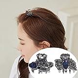 CHIMERA 2PCS Mini Metal Hair Claw Clips Elegant Butterfly Blue Rhinestone Small Hairgrip Bow Hair Clips for Fine Hair Women Girls