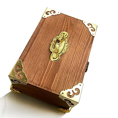 Bisagras de latón Ming y Qing para caja de almacenamiento, 2 unidades, con bisagras de latón antiguo, con impresión antigua, caja de regalo, caja de regalo, pieza de enlace redonda de cobre 24 x 22 mm