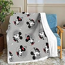 Manta de forro polar de Mickey Mouse, para adultos y niños, 100 % microfibra, para sofá de cama y sofá de forro polar, manta suave para sofá (Mickey 3,130 cm x 150 cm)